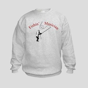 Fishin Musician Kids Sweatshirt