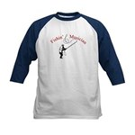 Fishin Musician Kids Baseball Jersey