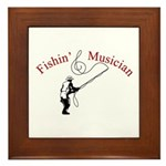 Fishin Musician Framed Tile