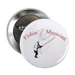 "Fishin Musician 2.25"" Button (100 pack)"