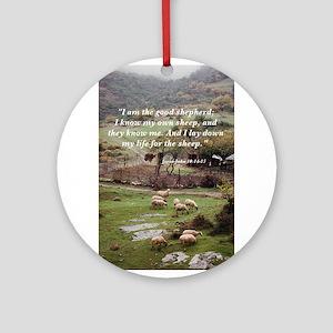 The Good Shepherd Ornament (Round)