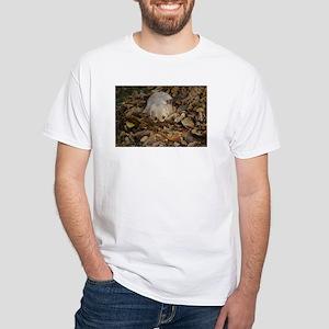 Golden Puppy Leaves White T-Shirt