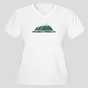 Steamboat Springs Women's Plus Size V-Neck T-Shirt