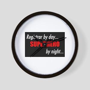 Superhero Registrar Wall Clock