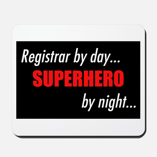 Superhero Registrar Mousepad