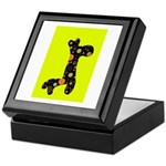 Giraffe Keepsake Box (Black with dots & green)