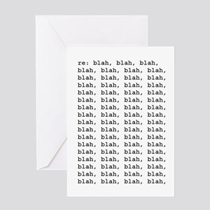 re: blah, blah, blah Greeting Card