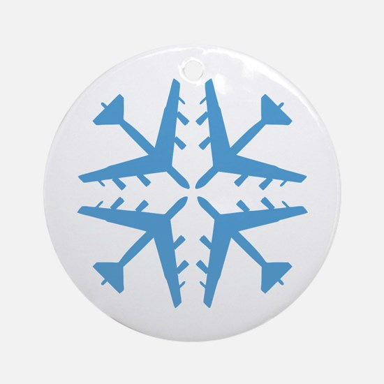B-52 Aviation Snowflake Ornament (Round)