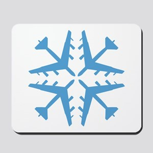 B-52 Aviation Snowflake Mousepad