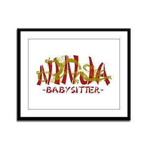 Dragon Ninja Babysitter Framed Panel Print