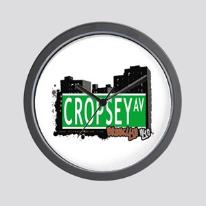 CROPSEY AVENUE, BROOKLYN, NYC Wall Clock
