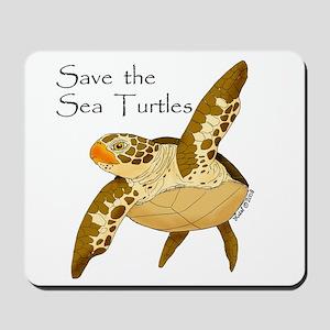 Save Sea Turtles Mousepad