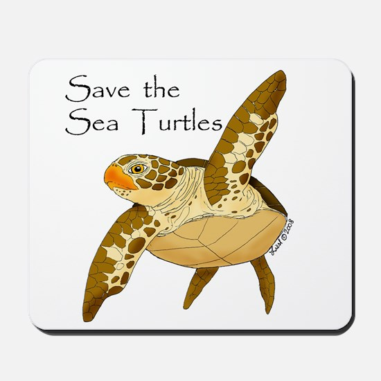 Save Sea Turtles Mousepad