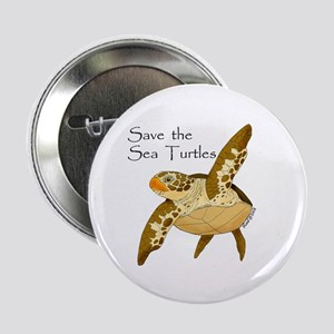 "Save Sea Turtles 2.25"" Button"
