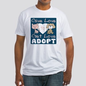 Give Love to Get Love Fitted T-Shirt