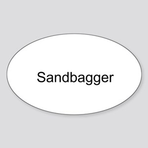 Sandbagger Oval Sticker