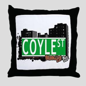 COYLE STREET, BROOKLYN, NYC Throw Pillow