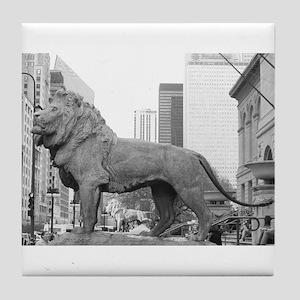 The Art Institute Lions Tile Coaster