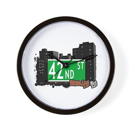 42nd STREET, BROOKLYN, NYC Wall Clock