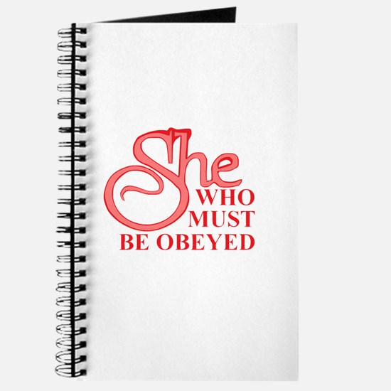She Who Must Be Obeyed design Journal
