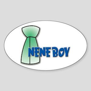 Nene Boy Oval Sticker