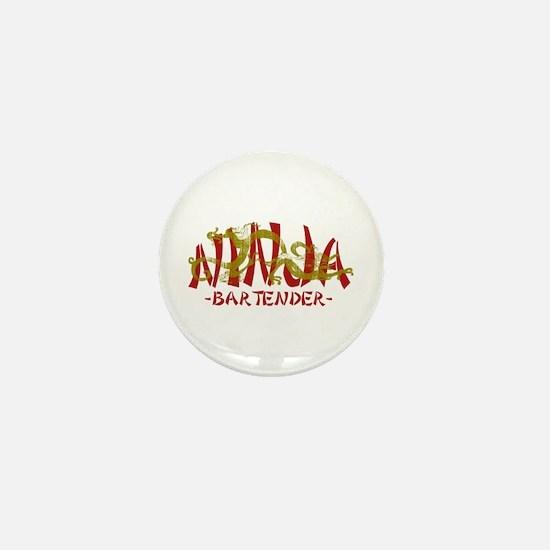 Dragon Ninja Bartender Mini Button