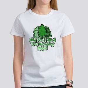 Tree Hugging Hippie Women's T-Shirt
