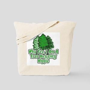 Tree Hugging Hippie Tote Bag