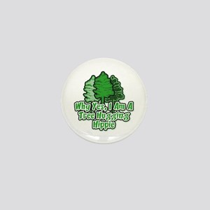 Tree Hugging Hippie Mini Button