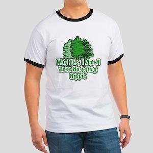 Tree Hugging Hippie Ringer T