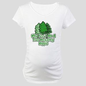 Tree Hugging Hippie Maternity T-Shirt