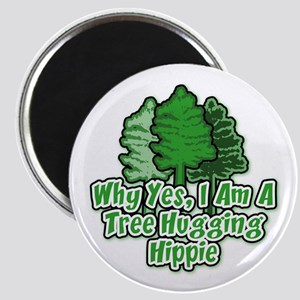 Tree Hugging Hippie Magnet