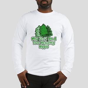Tree Hugging Hippie Long Sleeve T-Shirt