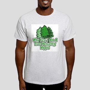 Tree Hugging Hippie Light T-Shirt
