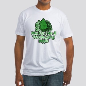Tree Hugging Hippie Fitted T-Shirt