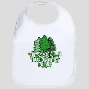 Tree Hugging Hippie Bib