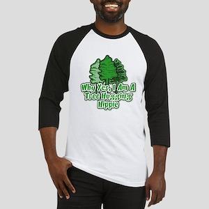 Tree Hugging Hippie Baseball Jersey