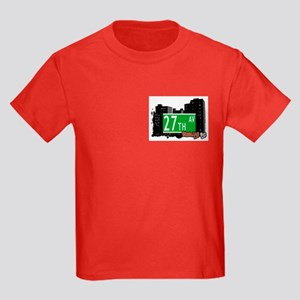 27th AVENUE, BROOKLYN, NYC Kids Dark T-Shirt