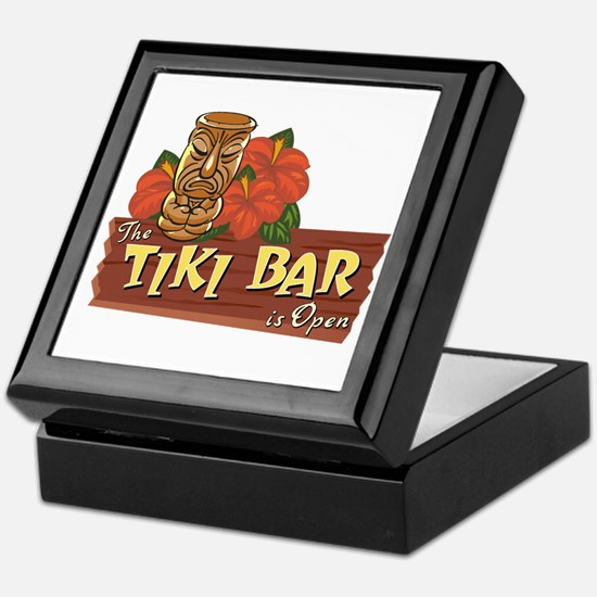 Tiki Bar is Open II - Keepsake Box