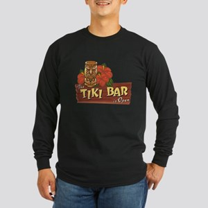Tiki Bar is Open II - Long Sleeve Dark T-Shirt