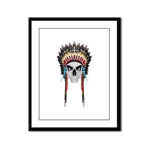 Indian Head Framed Panel Print