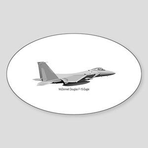 F-15 Eagle Oval Sticker