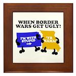 When Border War Gets Ugly! Framed Tile