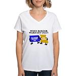 When Border War Gets Ugly! Women's V-Neck T-Shirt