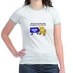 When Border War Gets Ugly! Jr. Ringer T-Shirt
