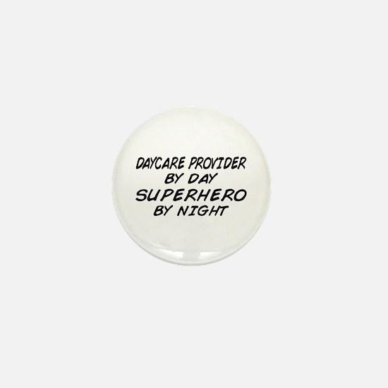 Daycare Provider Superhero Mini Button