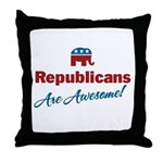 Republicans are Awesome! Throw Pillow