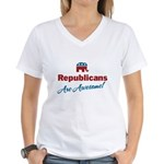 Republicans are Awesome! Women's V-Neck T-Shirt