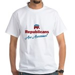 Republicans are Awesome! White T-Shirt
