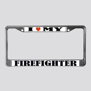 Firefight Love License Plate Frame